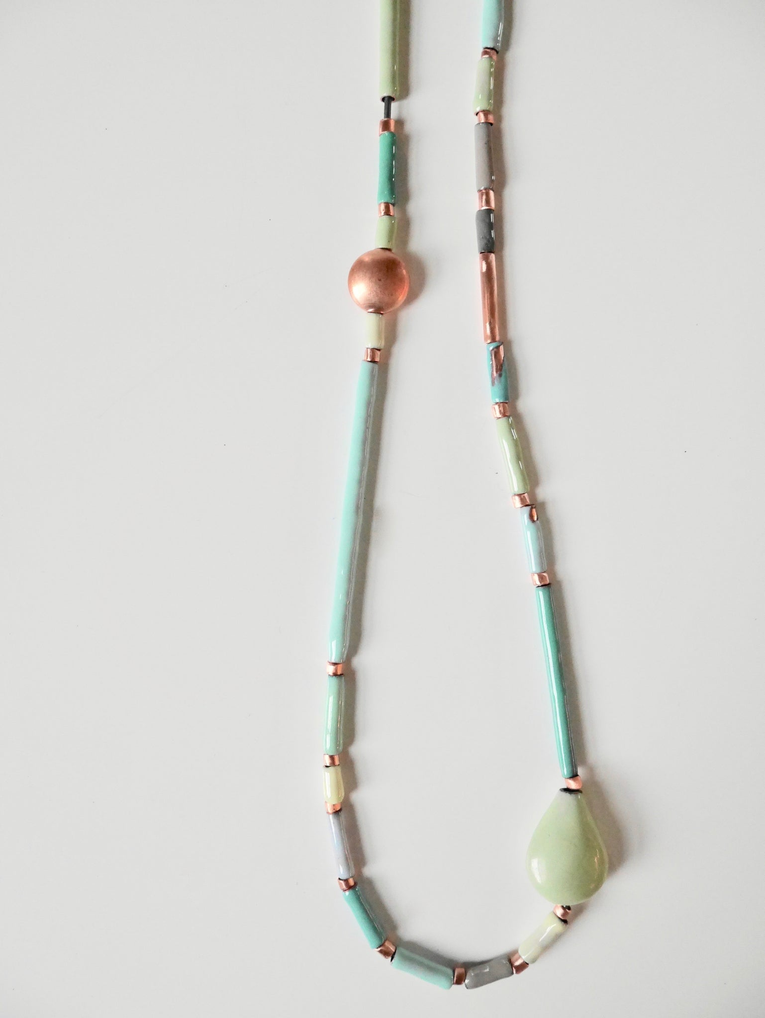 Camp Bead Long Necklace