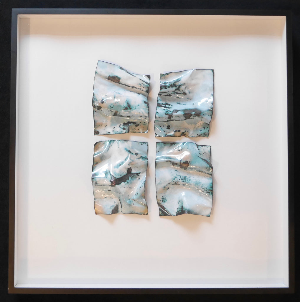 "Rustic Shadow Box Crushed Metal ""Waves"""