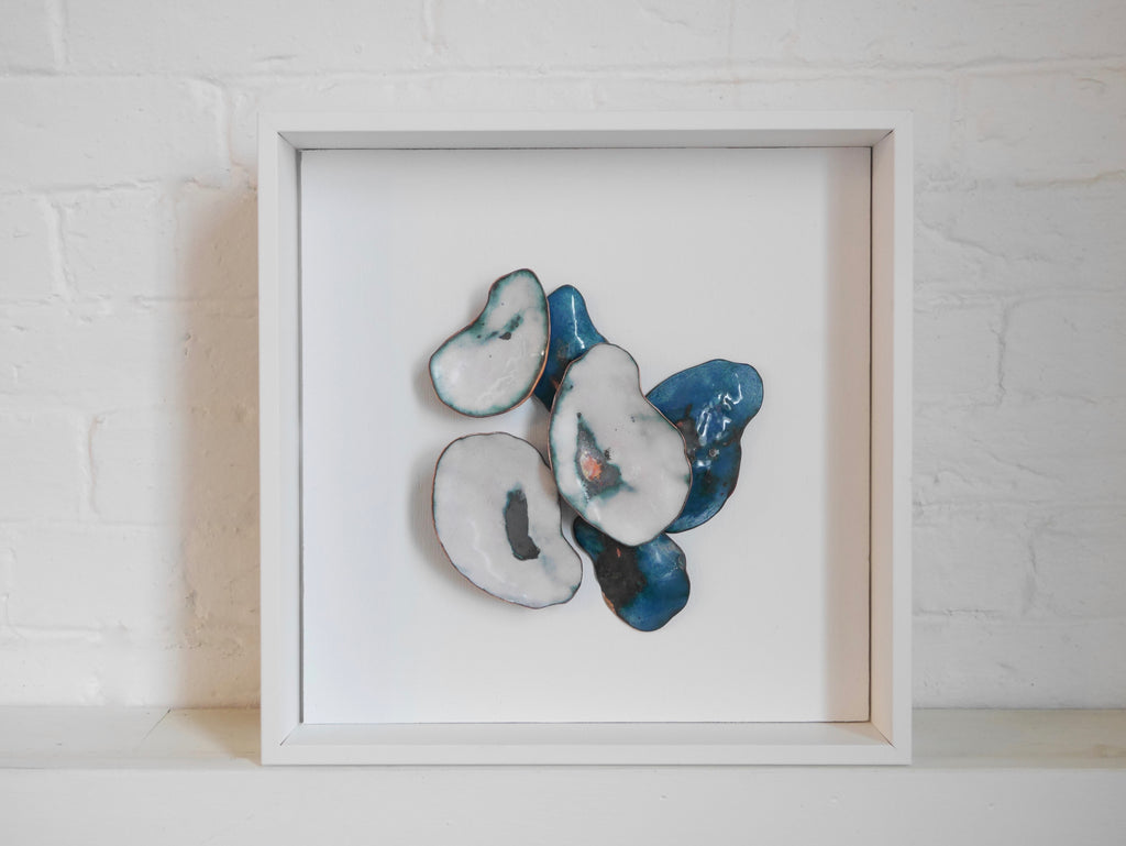 Enamel Shell Shadow Box