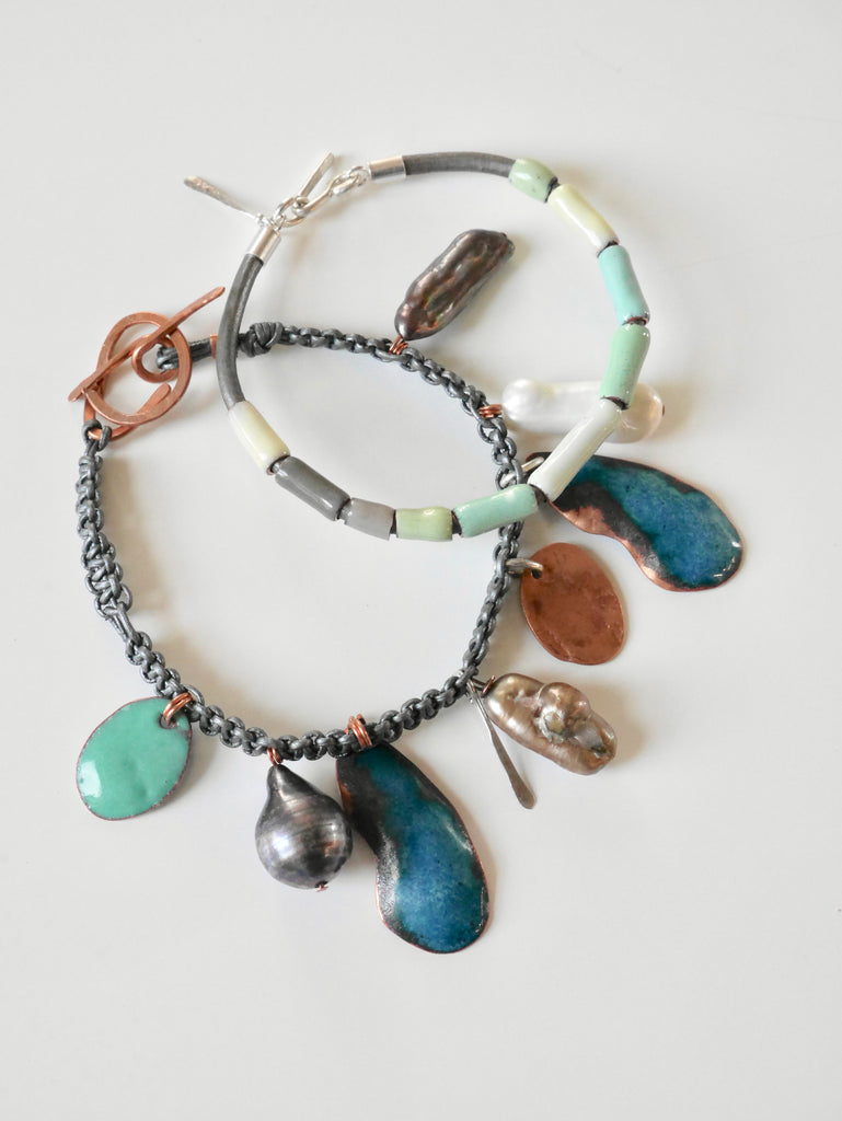 Enameled Beach Bracelets