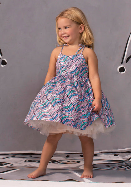 TC1980DC Cinderella - Chambray Romantic Casual Tutu Dress