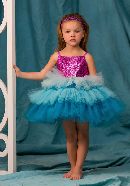 TC1760D Ariel - Sequin Bodice Tiered Classic Tutu Dress