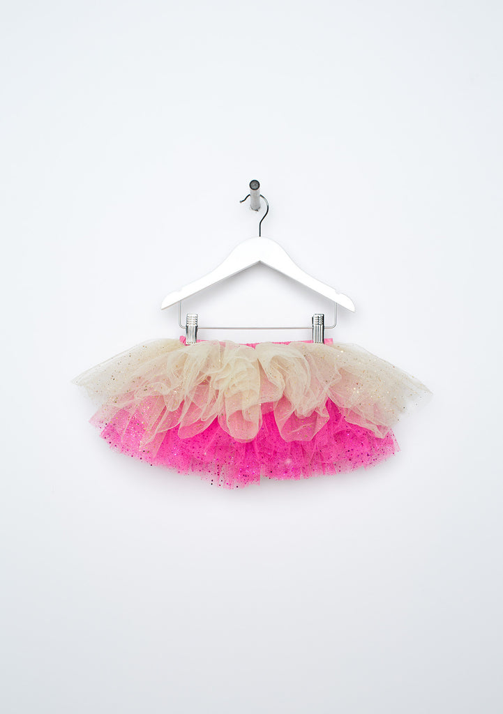 TC1767S Reversible Glittered Romantic Tutu Skirt