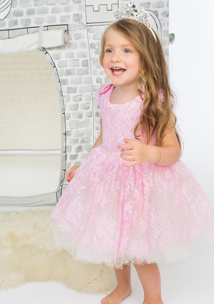 TC1940 Allover Lace Romantic Tutu Dress