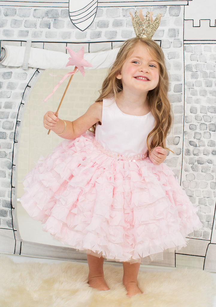 TC3620 Satin & Ruffles Romantic Tutu Dress