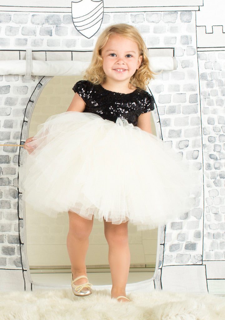 TC1690 Sequin Bodice Romantic Tutu Dress
