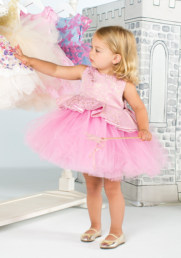 TC1700 Brocade Peplum Romantic Tutu Dress