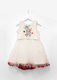 TC2220D Disney Minnie Mouse French Terry Casual Pompom Tutu Dress