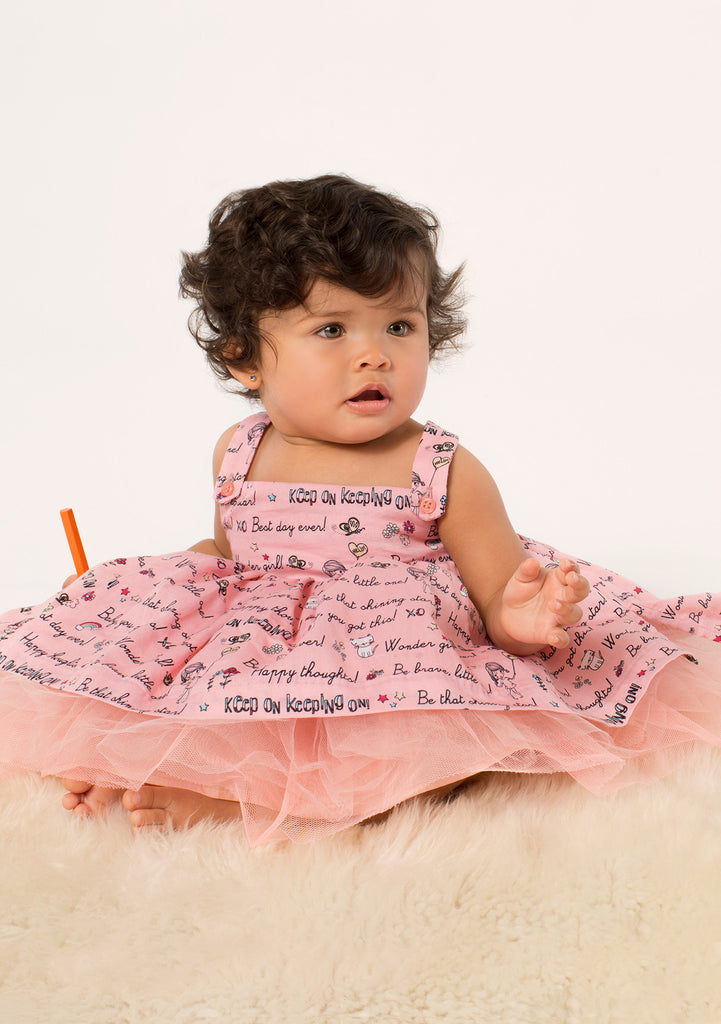 TC3350 Printed Cotton Sateen Romantic Casual Tutu Dress with Diaper Cover
