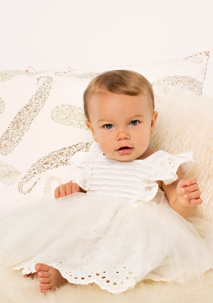 TC3080 Eyelet Romantic Tutu Dress with Diaper Cover