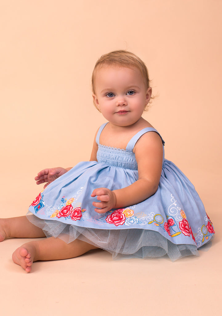 TC3590D Baby Belle Smocked Top Tutu Dress & Diaper Cover