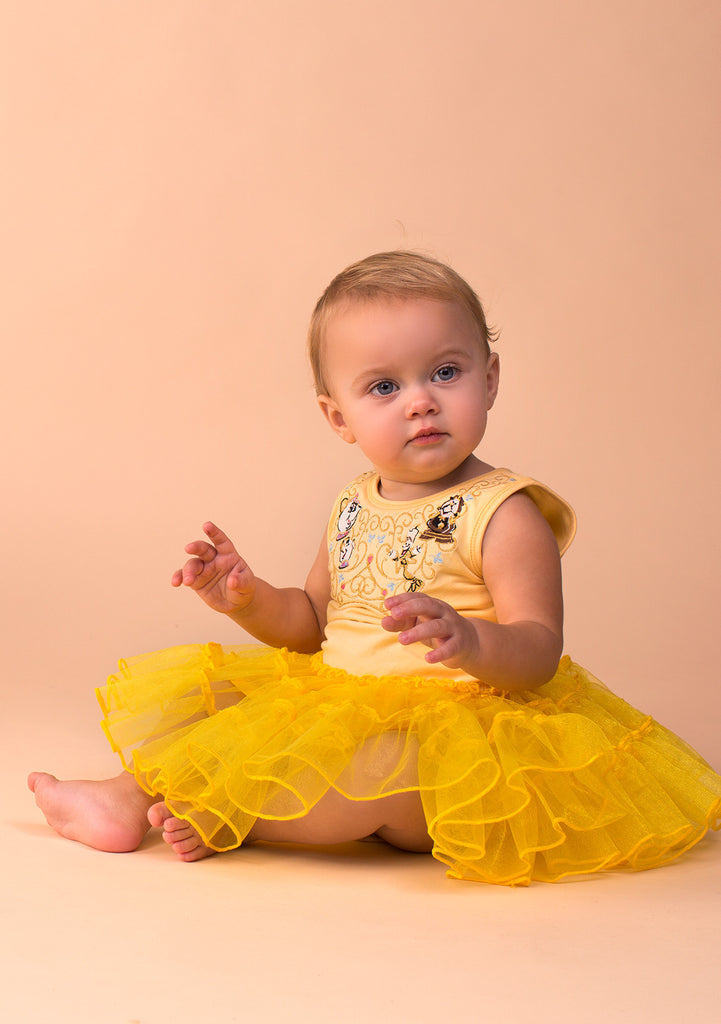 TC3610D Baby Belle Petti-Dress with Rose Sequin Bodice & Diaper Cover