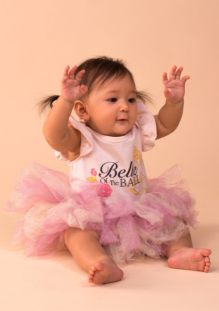 TC3431DV2 Baby Belle 3PC Set 2 F/S Bodysuit with Classic Tutu Skirt