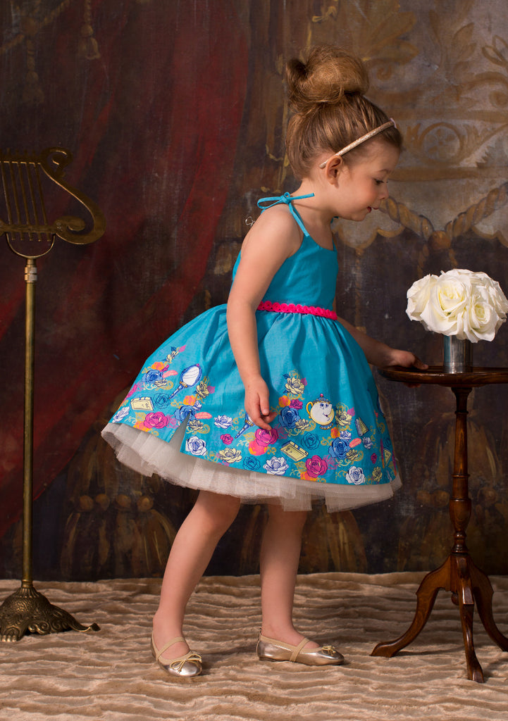 TC1980D Belle Chambray Romantic Casual Tutu Dress