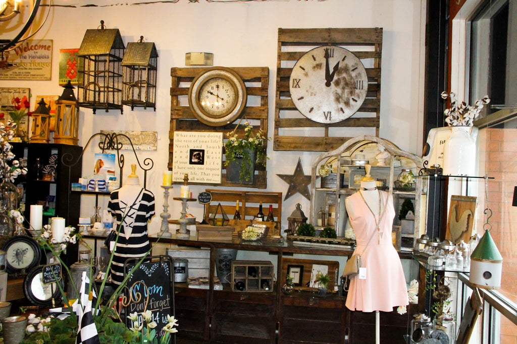 Delaneys Home decor, gifts and beautiful accents, clocks and wine holders