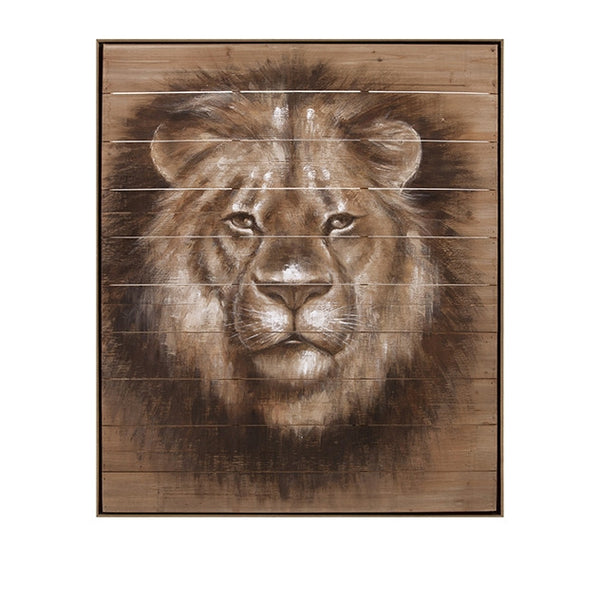 Cecil Lion Oil Painting on Wood