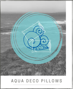 DECORATIVE PILLOWS AQUA COASTAL