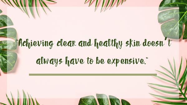 banner quote about skin care