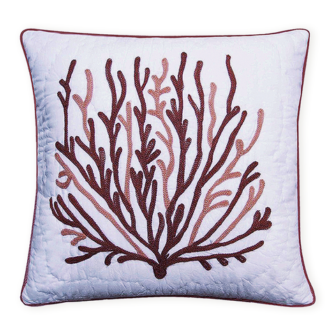 Coral Quilted Decorative Pillow