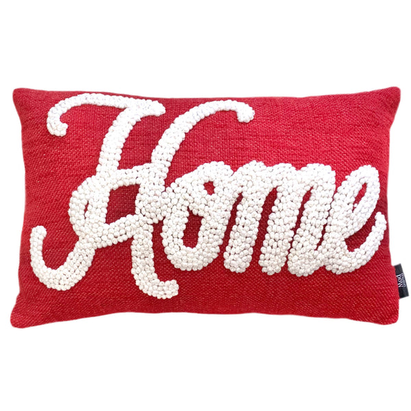 "Home French Knot Embroidery Pillow, 14"" X 22"" Mod Lifestyles"