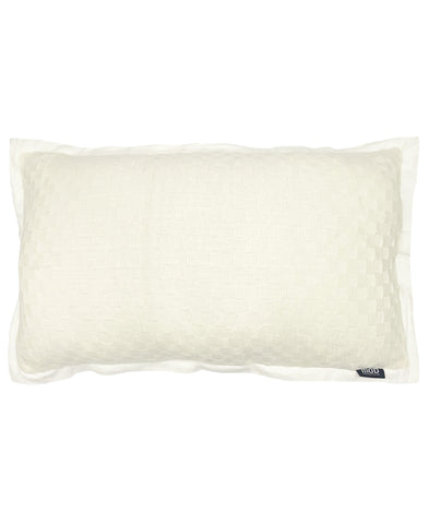 "pillow Basketweave Textured Flanged Edges, 14"" X 26"" Mod Lifestyles"
