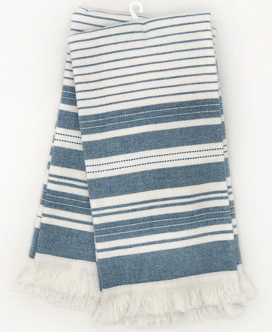 "2 Pack Blue Stripe Yarn-dyed Kitchen Towel, 20"" X 28"" Mod Lifestyles"