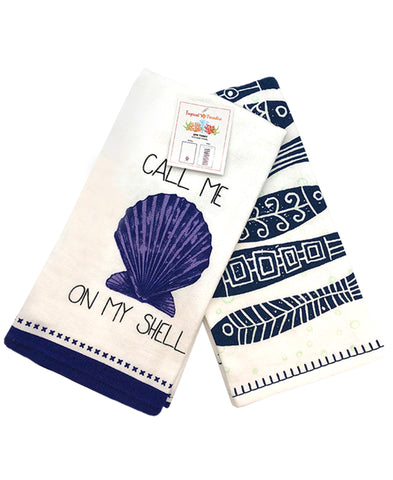 "2 Pack Waterfall Fish Kitchen Towel, 20"" X 28"" Mod Lifestyles"