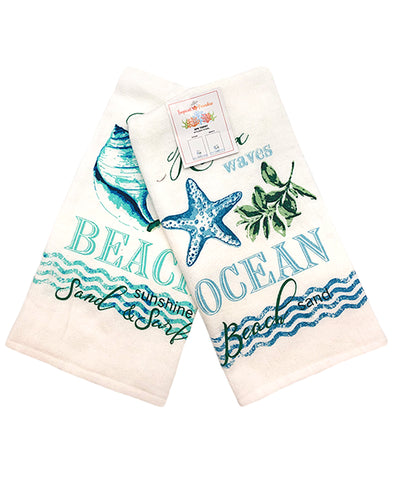 "2 Pack Ocean Beach Kitchen Towel, 20"" X 28"" Mod Lifestyles"