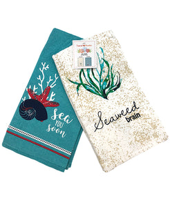 "2 Pack Seaweed Kitchen Towel, 20"" X 28"" Mod Lifestyles"