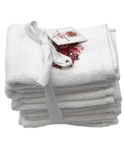 6-pc Coral Embroidery Terry Towel, 12''x 12'' Mod Lifestyles