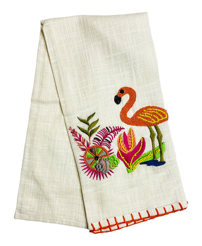 "Flamingo Kitchen Towel, 20"" X 28"" Mod Lifestyles"