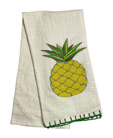 "Rainbow Pineapple Kitchen Towel, 20"" X 28"" Mod Lifestyles"