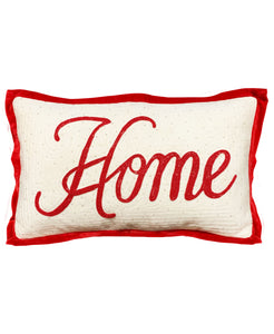 "Home Embroidery Pillow, 14"" X 22"" Mod Lifestyles"