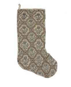 "Swirl Beaded Velvet Christmas Stocking, 8"" X 22"" Mod Lifestyles"