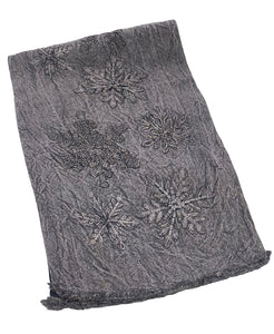 "Beaded Snowflake Distressed Table Runner, 16"" X 72"" Mod Lifestyles"