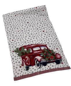 "All-over Snowflake Printed Red Car Table Runner, 16"" X 72"" Mod Lifestyles"
