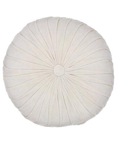 "Spring Colors Round Velvet Pillow, 16"" Round"