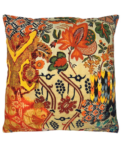 Spice Floral Digital Print and Embroidery Pillow