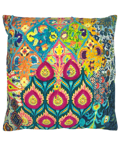 Kelly Floral Digital Print and Embroidery Pillow