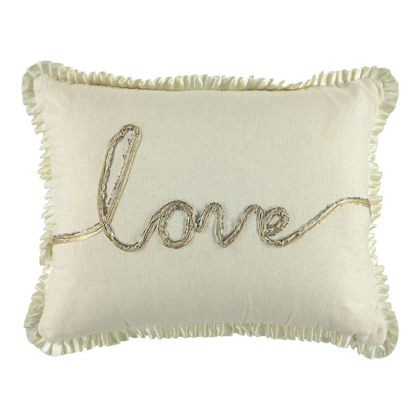"Love Decorative Decorative Lumbar Pillow, 13"" X 18"""