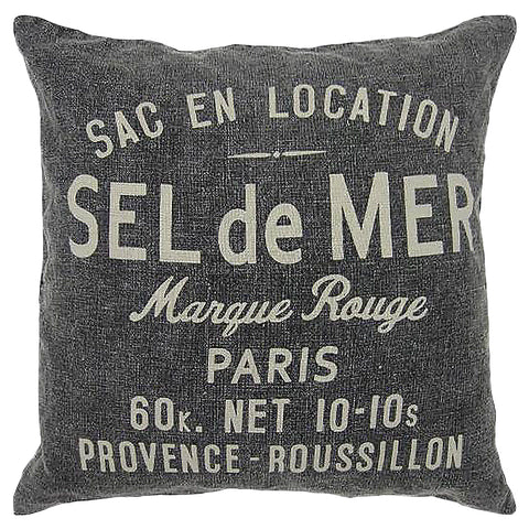"SEL de MER Print Decorative Pillow, 20"" X 20"" Mod Lifestyles"