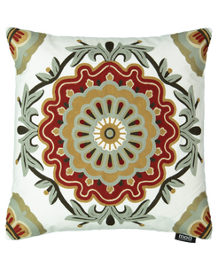 "Medallion Embroidery Decorative Pillow, 20"" X 20"" Mod Lifestyles"