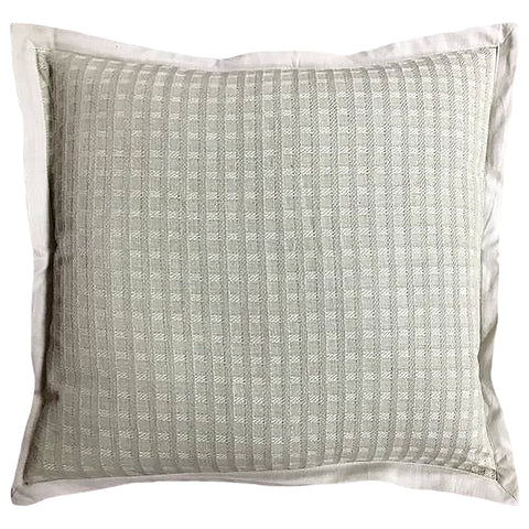 "Square Yarn-dyed Flange Edge Decorative Pillow, 20"" X 20"""