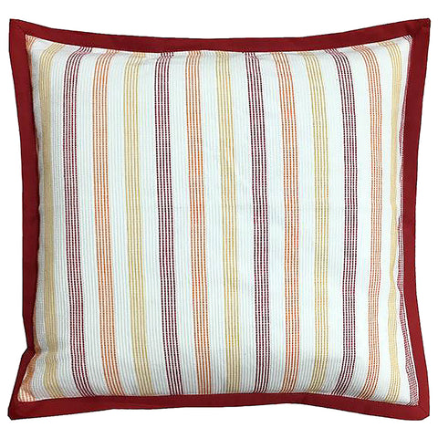 "Stripe Yarn-dyed Flange Edge Decorative Pillow, 20"" X 20"""