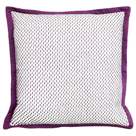 "Stitch Yarn Dye Pillow Flange Edge Decorative Pillow, 20"" X 20"""