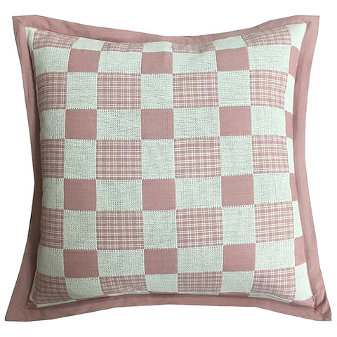 "Checkers Yarn-dyed Flange Edge Decorative Pillow, 20"" X 20"""