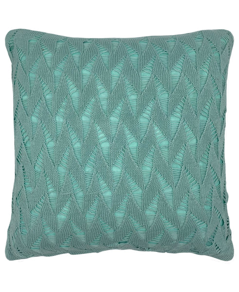 "Cotton Fishnet Knit Pillow, 18"" X 18"" Mod Lifestyles"
