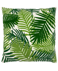 Palm Leaves Embroidery Pillow Mod Lifestyles