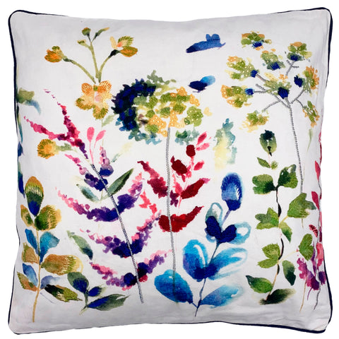 "Wildflower Watercolor Pillow, 20"" X 20"""