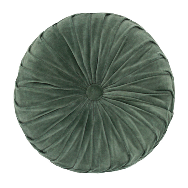 "Round Cross Overlapped Velvet Cushion, 16"" Diameter Mod Lifestyles"